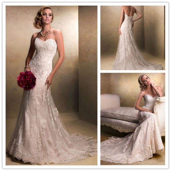 tulle-with-applique-beading-detachable-straps-long-wedding-dress-all3