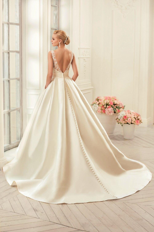 White Satin Mermaid Wedding Dress S..   Wedding dresses