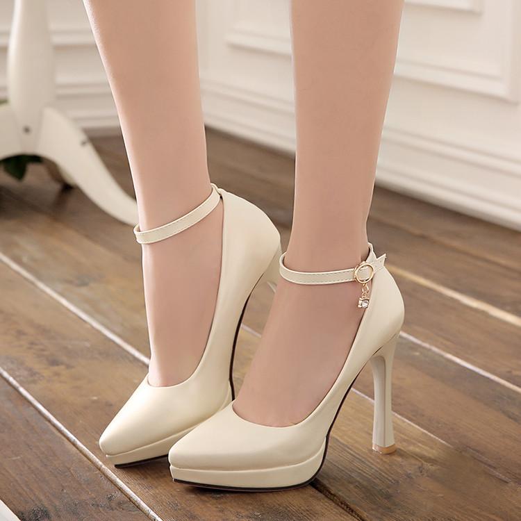 beige pink blue high heel platform wedding shoes my