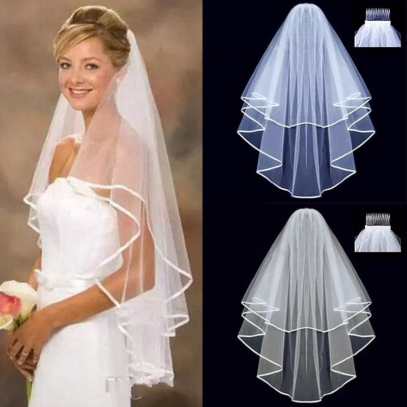 Wedding Simple Tulle Two Layers Veil