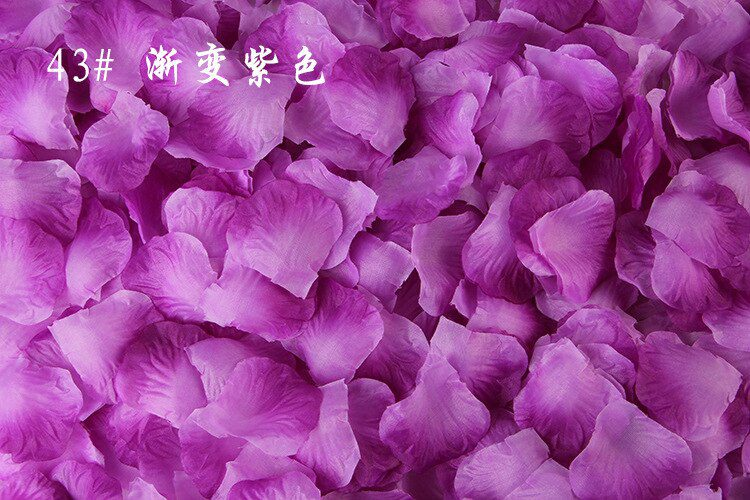 100pcs/lot 5*5cm Artificial Flowers Simulation Rose Petals Decorations Wedding Marriage Room Rose Flower
