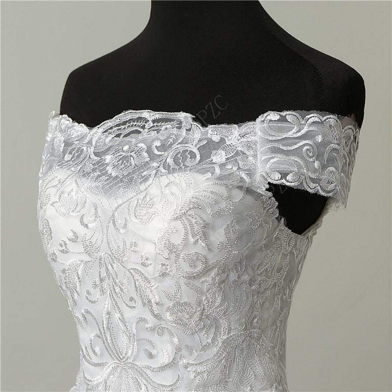 30% Discount Luxury Lace Embroidery 2020 Wedding Dresses 100cm Long Train Sweetheart Elegant Plus size Vestido De Noiva Bride