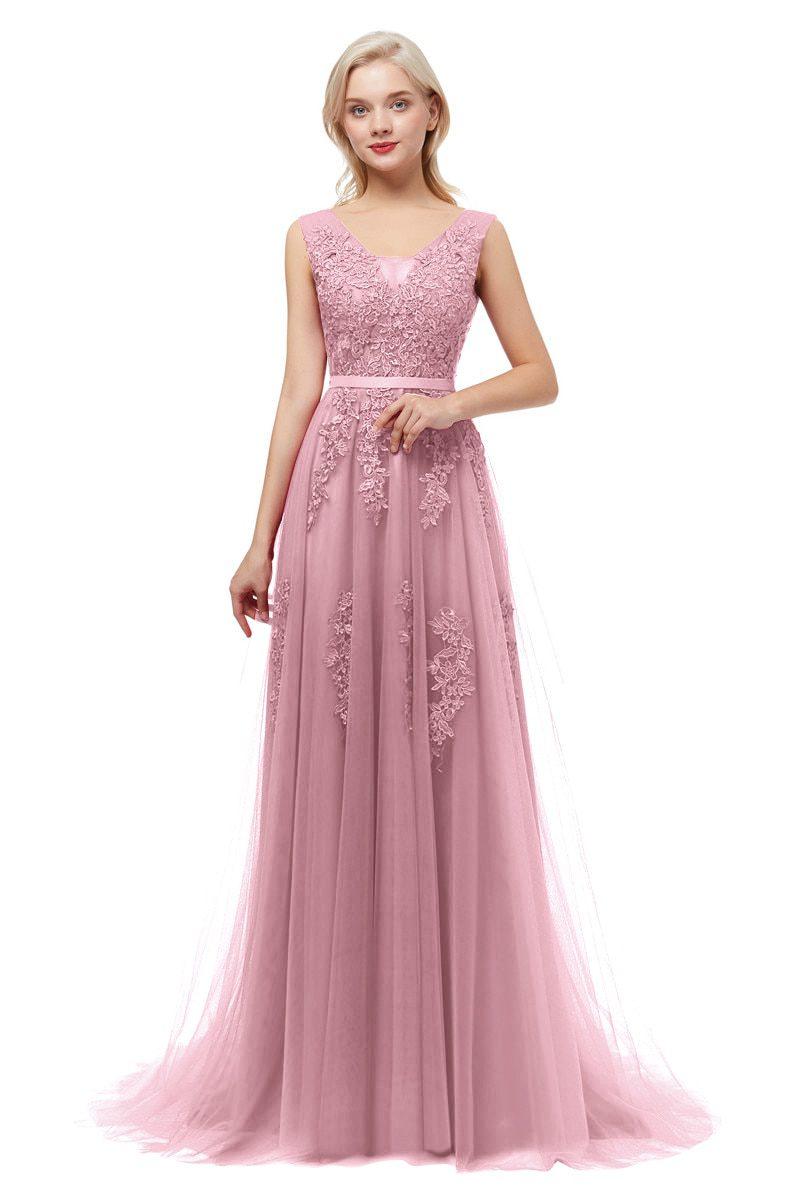 Royal blue Evening Dress plus size Long 2020 A Line Formal Party dresses appliques lace prom gown dress bridal Vestido De noiva