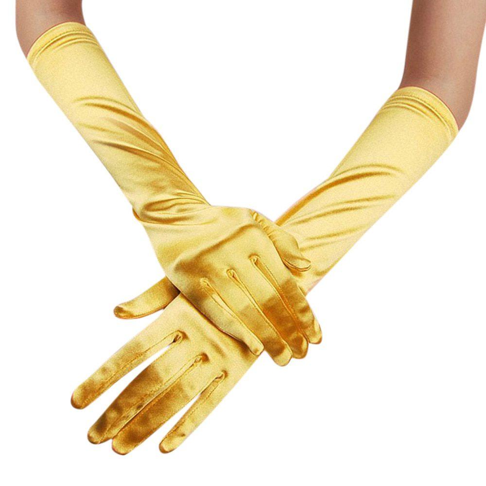 Womens Satin Long Gloves