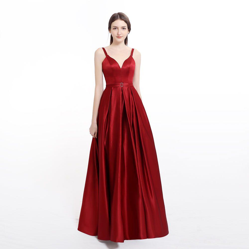 Plus size Evening Dress with High Slit prom Satin red Blue Spaghetti Straps Sweetheart sexy vestidos de fiesta de noche abiye