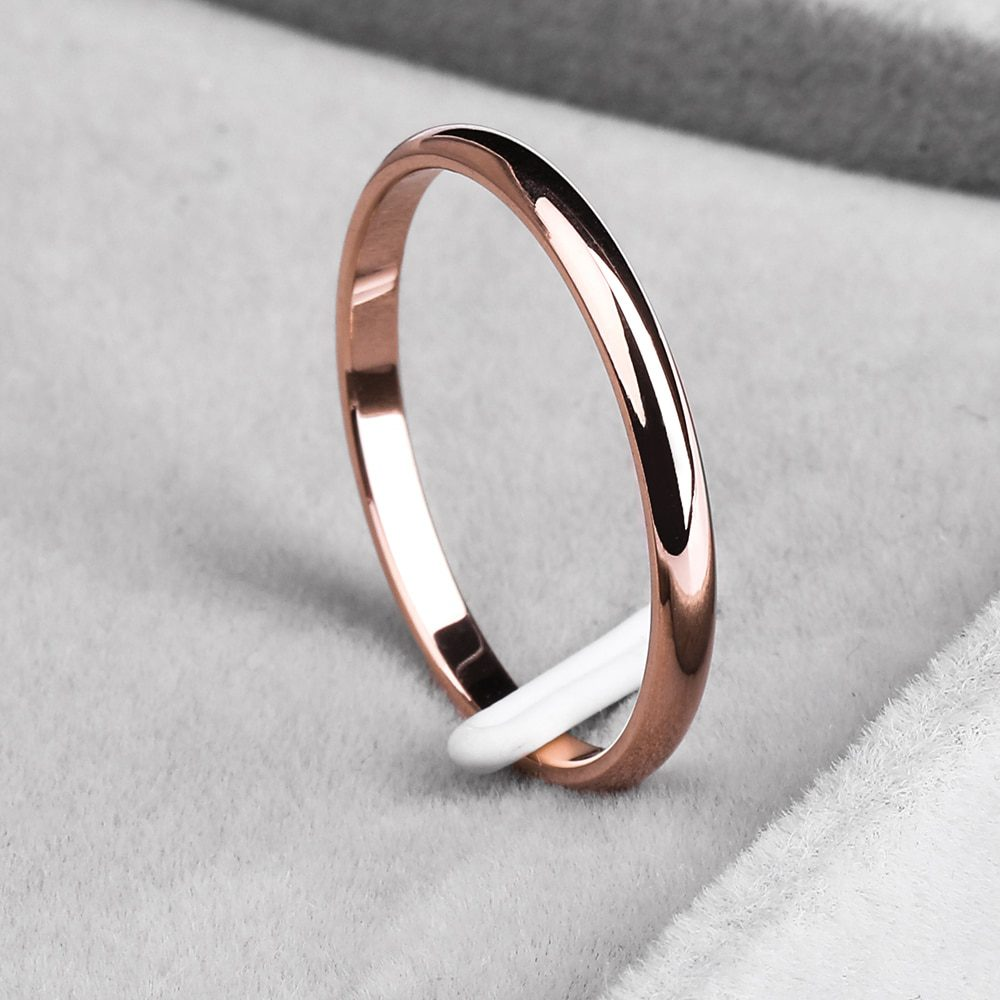Ramos 2mm titanium steel tricolor combination ring simple smooth fashion ring for a woman or man wedding gift