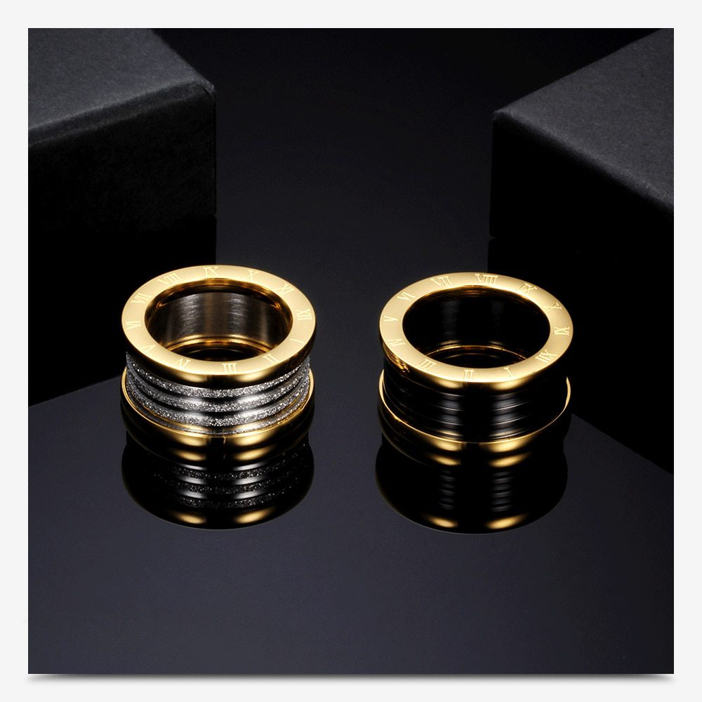 Antique Retro Stainless steel Rings For Women Men Jewelry Anillos Engagement Wedding Bague Homme Party Accessories Vintage