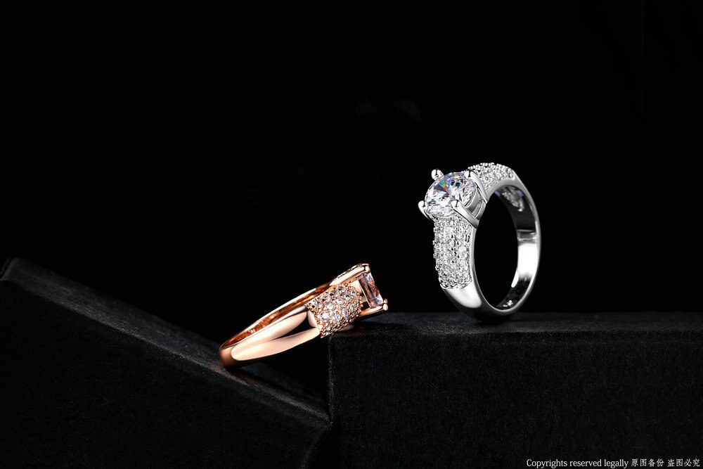 Classic Wedding/Engagement Ring For Women AAA+Cubic Zirconia Crystal Rose Gold Color Fashion Jewelry anel DWR105M